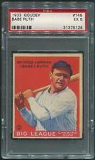 1933 Goudey Baseball #149 Babe Ruth PSA 5 (EX)