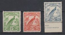 NEW GUINEA 31,33,35  Bird of Paradise 1932-34 mint
