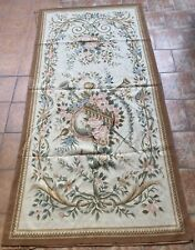 French Handwoven Aubusson Tapestry 19th Century Rug 48 X 96 Inches