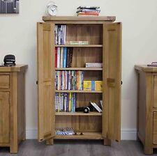 Original rustic solid oak furniture CD DVD storage cabinet cupboard rack