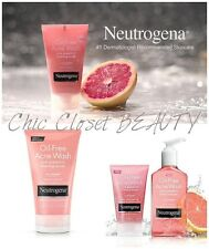 NEUTROGENA Oil-Free Acne Wash Pink Grapefruit Cream Cleanser 6oz Facial Scrub