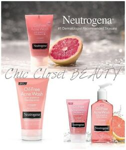 NEUTROGENA Oil-Free Acne Wash Pink Grapefruit Cream Cleanser Facial Scrub