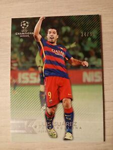 Luis Suarez /99 Topps Champions League UEFA FC Barcelona 2014-2015