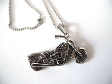 Collana Maschile in Acciaio Inox Moto Teschio Ghost Samcro color Argento Harley