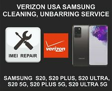 Verizon USA Cleaning, Unbarring Service for Samsung S20, S20 Plus, S20 Ultra, 5G