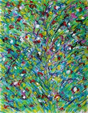 Bouquet éternel modern art contemporary oil and ink painting