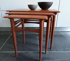 60er TEAK Set TAVOLI TAVOLINO moltiplica Tables Danish design Wegner era