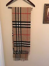 "100% Authentic Burberry Cashmere Scarf. Great Condition. 12.25""X68"""
