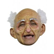 Old Man Deluxe Chin Strap Latex Mask Fancy Dress Halloween Adult