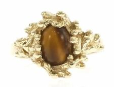 Genuine Tigers Eye Ring in 14 Kt Yellow Gold