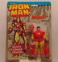 IronMan 1991 Toy Biz Marvel superheroes MOC Quick change armor