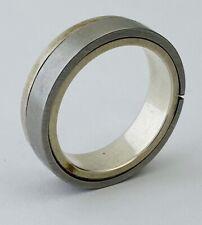 Artisan Made Titanium Two-Tone Ring, Unisex 5mm Band, Size 8