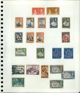 Bermuda QV-KGVI Album Page Of Stamps #V18958