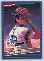 1986  Donruss CARLTON FISK Baseball Card # 366 - Chicago White Sox