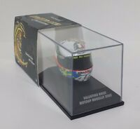 MINICHAMPS VALENTINO ROSSI MODELLO AGV CASCO HELMET 1/8 MOTOGP MUGELLO 2005 RARE