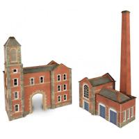 Metcalfe PN184 Boilerhouse & Factory Entrance N Gauge Card Kit