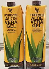 2 Pack Piezas  Forever Living Aloe Vera Gel 33.8 fl.oz (1 Liter) FREE SHIPPING!