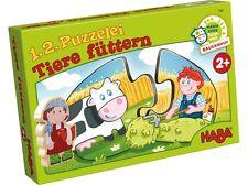 1,2 Puzzle Animales Alimentación 7467 Puzzle Haba Legepuzzle a partir de 2 Años