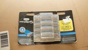 Schick Hydro 5 Hydrate Razor Blade Refills Coconut Oil 12 Cartridge Pack NIB