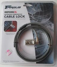TARGUS DEFCON CL NOTEBOOK COMBINATION CABLE LOCK KIT New Sealed! 6.5' CABLE