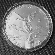 2012 Mexico Libertad 1 Ounce oz Onza .999 Silver Plata Pura Round IN CAPSULE
