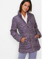 Bonprix Púrpura IMPRESO Abrigo Chaqueta Acolchada Cálido Acolchado Talla Grande 22 Nuevo