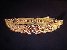 Superbe ceinture Napoléon III émaillée fils d'or & argent 19ème / French antique