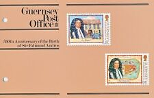 GUERNSEY PRESENTATION PACK MNH 1987 SIR EDMUND ANDROS 350TH ANNIVERSARY OF BIRTH