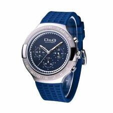 D&G Dolce & Gabbana DW0416 Armbanduhr Herren, Edelstahl, Chronograph, Blau - Neu