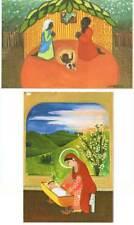 Lote de dos postales navideñas grandes. Inspiración Angoleña + Inspiración Indú