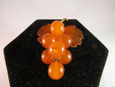 "Vintage Russian Amber Grape Cluster Pin Broch ""Odessa"""
