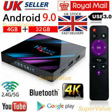 2020 h96 Max Android 9.0 TV Box 4gb+32gb HD Media Player 4k 2.4g/5ghz WiFi UK