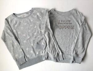 Preowned Girls Gray Sweat Shirts Size 10 - 12 Arizona So 2 Piece Lot Kids