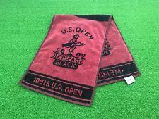 NICE U.S. Open 2009 BETHPAGE BLACK Member TOWEL Black & Maroon USGA Used Clean