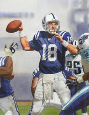 PEYTON MANNING COLTS ART PRINT #2