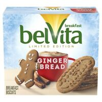 BelVita LIMITED EDITION Gingerbread Breakfast Biscuits 5 Pack Cookies EXP 5/21