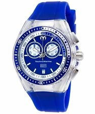 TechnoMarine TM-115334 Women's Cruise Sport Chronograph Blue Silicone & Dial