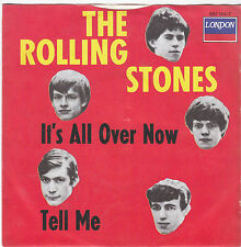 """Single 7"""" - The Rolling Stones """"It 's all over now/tell me"""" London têtes-cover"""