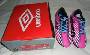 Umbro Arturo 2.0 pink soccer cleats size Youth 1.5 NEW