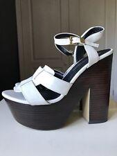 RIVER ISLAND Ladies Women Platform High Heel Strappy Shoe Sandal White Size 7 40