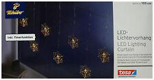 TCM Tchibo LED Lichtervorhang Lichterkette Weihnachten Deko Licht Eiskristalle