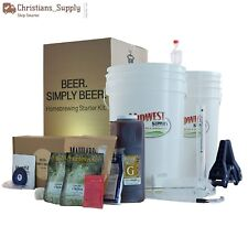 Craft Beer Brewing 5 Gallon Home Pale Ale Recipe Starter Kit Beer Making Kitchen