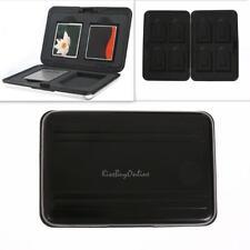 Aluminum Memory Card Storage Box Case Micro SDXC Card Holder Protector Black