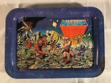 MASTERS OF THE UNIVERSE TIN TELEVISION TRAY HE MAN MATTEL 1982 RARE MOTU