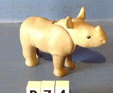 (B74) playmobil Bébé rhinocéros zoo savane