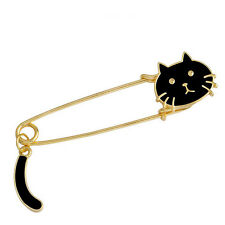 Cute Brooches Black White Cats Oil Drop Exquisite Brooch Pins Fashion Jewelry