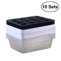 10X SEED STARTER KIT SEEDLING Tray 12 Peat Pellet Greenhouse Propagation Plant
