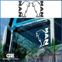 1 Paar MAN - LKW Seitenfenster Aufkleber - Sticker / Decal, H 28cm !><!