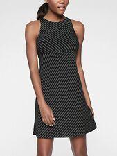 Athleta Santorini High Neck Mix Stripe Dress,Go Stripe Black SIZE SP S P #228764