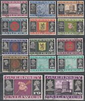 GUERNSEY 1969 14 VALUES PRE DECIMAL ARMS & VIEWS COMMEMORATIVE STAMPS USED